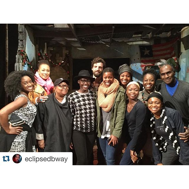 Now that the show's closed,  #FamiliarPH cast members visited @eclipsedbway! What a beautiful family, all united by the impactful work of @danaigurira.\n\nRepost via @eclipsedbway