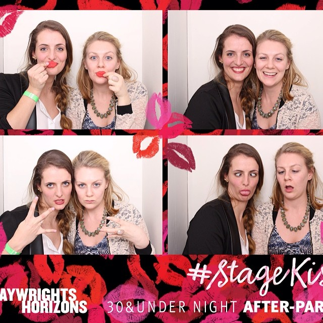 playwrights horizons photo booth!! #stagekiss @mfow2410