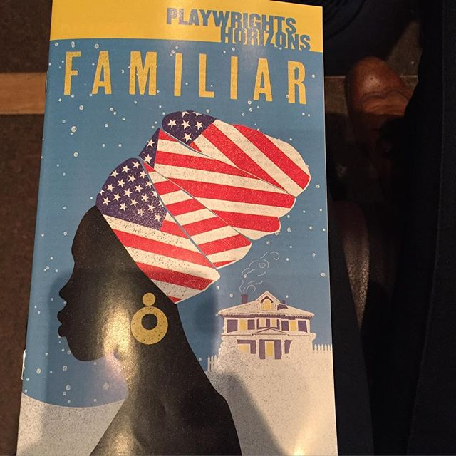 Sunday Funday. Here at the Playwright Horizons Main Stage Theater to see Familiar. #Familiar #playwrightshorizonstheater #familiarph #phnyc #playwrightshorizons #offbroadway #sundayfunday #sundayafternoondate #nyc #play