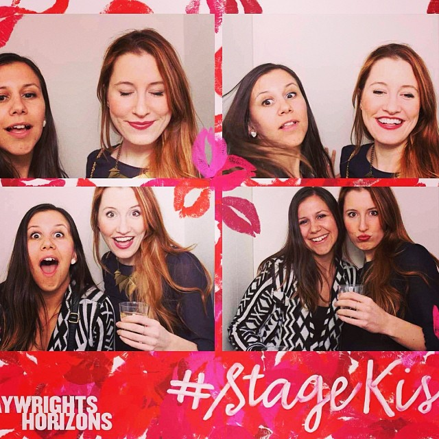 It took us a second to find where the camera was! #stagekiss #nyctheatre