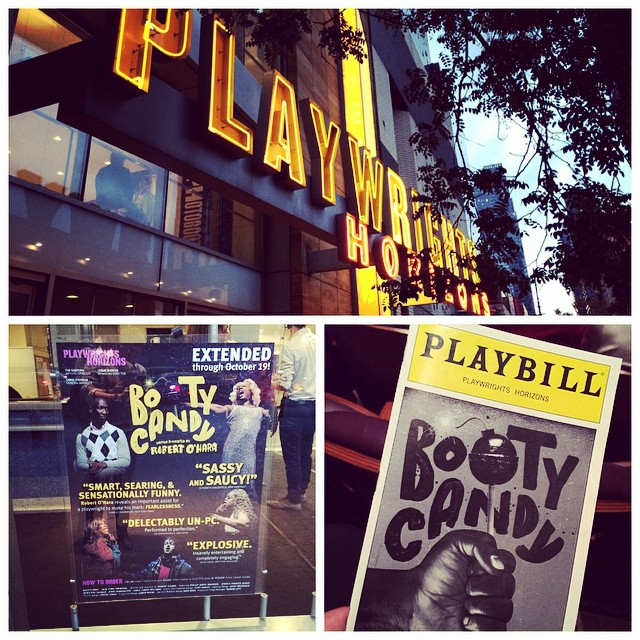 day off = theatre time! seeing a new show, #BootyCandy at @phnyc!