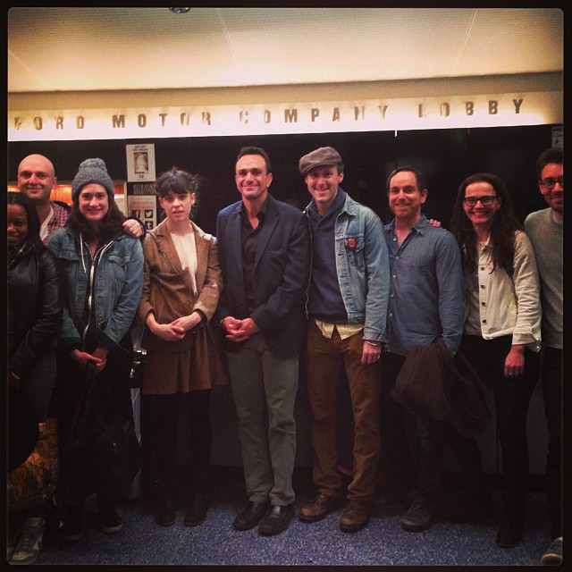 It's so thrilling to share this show with The Simpsons peeps. Thanks for coming, Hank Azaria! @phnyc #mrburnsplay