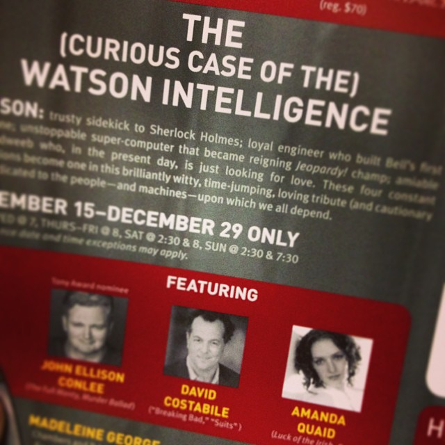 SO MUCH GREAT THEATRE IN NYC RIGHT NOW! David Costabile & Amanda Quaid are both so freakin good. Can't wait. #watsonplay