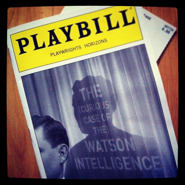 The (Curious Case of the) Watson Intelligence... #watsonplay #phnyc #offbroadway #theater #theatre