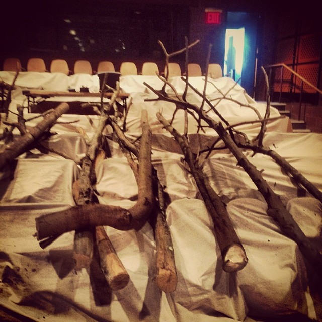 Trees in the Sharp; #patronsaintplay load-in currently in progress!
