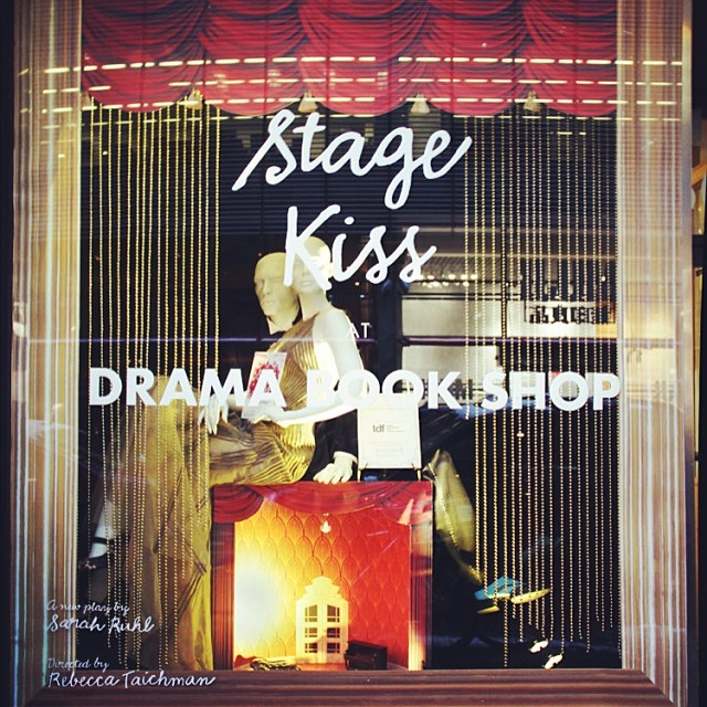 Our #StageKiss display at the Drama Book Shop! Stop by 40th to take a look for yourself.