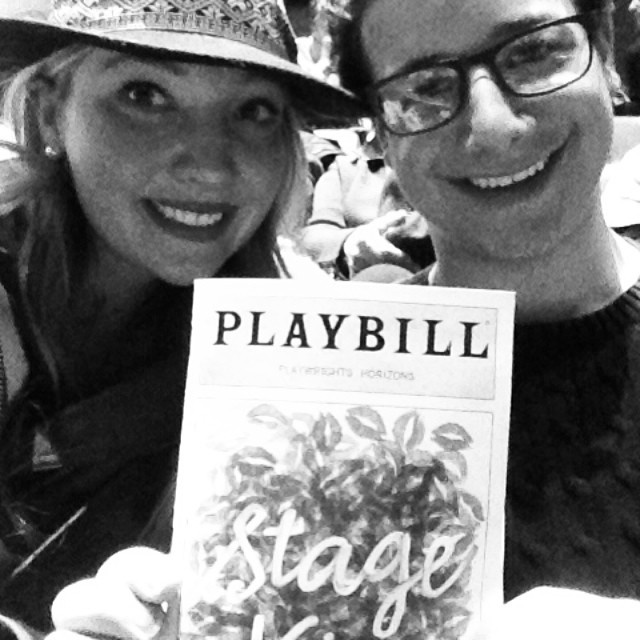 Seeing some new Sarah Ruhl in the city! #stagekiss #playwrightshorizons #donttelleveryoneelsewepaidonethirdofthepricefortheseseats @ashley_every