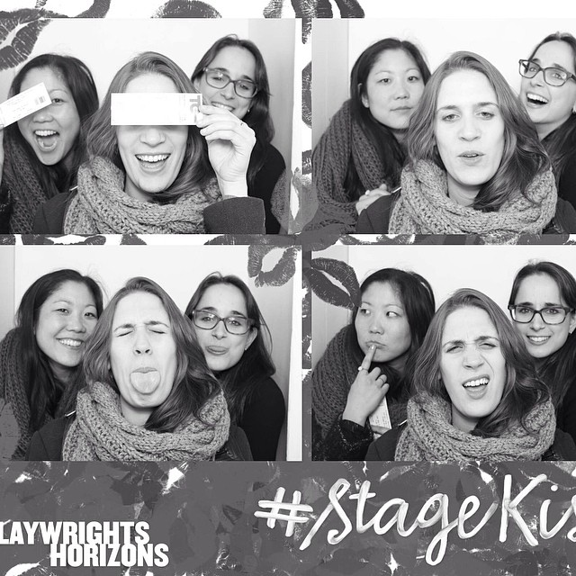This is what happens when you let the marketing girls out of the office #stagekiss
