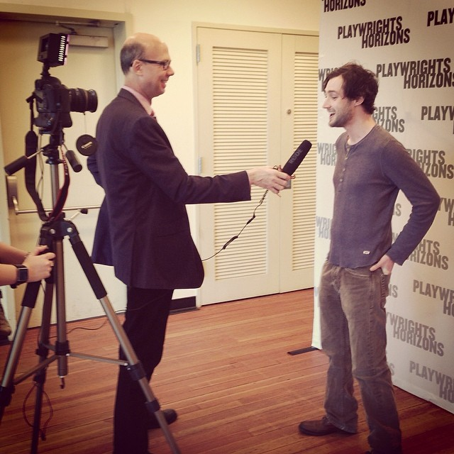 @wpconnolly interviewed by @broadwayworld's Richard Ridge at 1st day of #FlyByNightPH rehearsal!