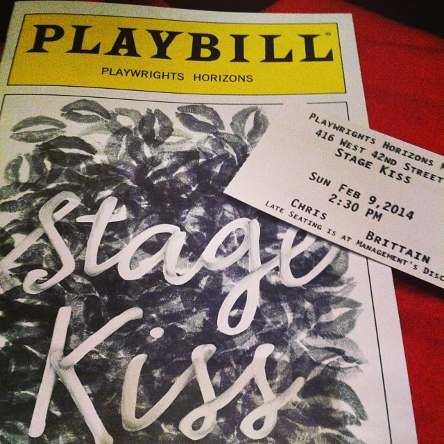 Playwrights Horizons Stage Kiss #stagekiss