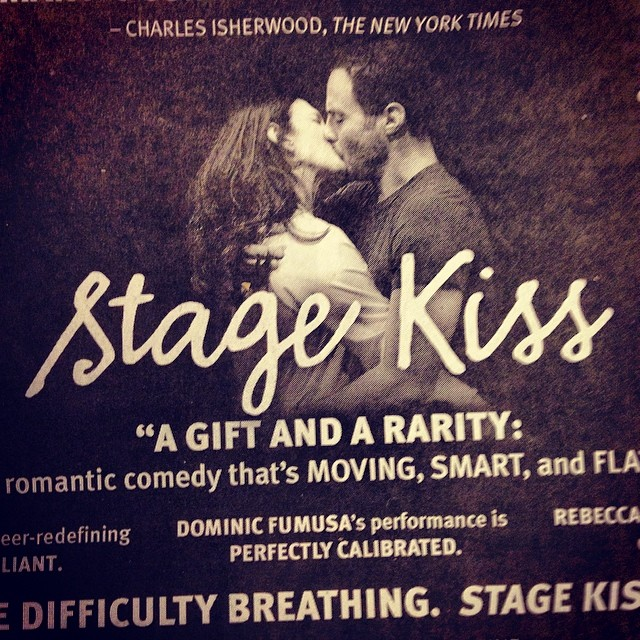 #StageKiss is extending til April 6!  Did you see today's ginormous NY Times ad?