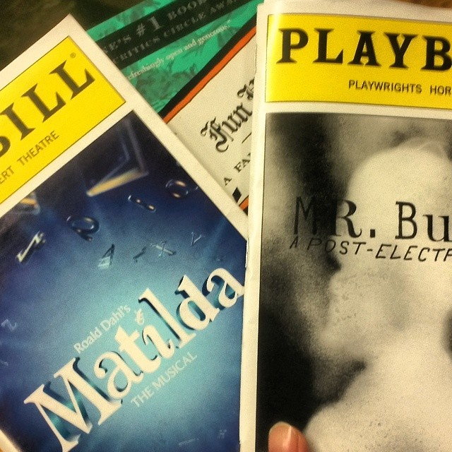 Well, today just further ignited my love of storytelling. #Matilda #MrBurnsPlay