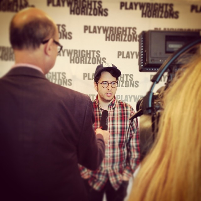 @michaelmitnick interviewed by @broadwayworld at #FlyByNightPH first rehearsal