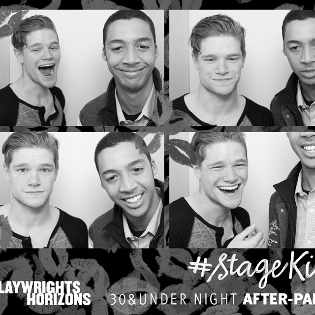We aren't that great at photo booths #stagekiss #nyc #afterparty
