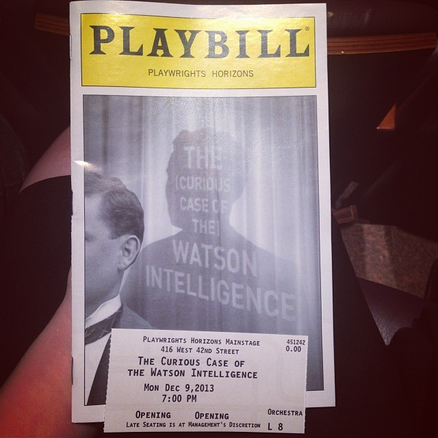 Opening night of #watsonplay at @phnyc with @clft91 :)! #yay