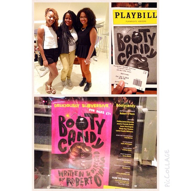 "NYC nights\nTheatre night watching ""Booty Candy"" with my girlies!\n#bootycandy #42nd #PlaywrightHorizon #nyc #theatre"