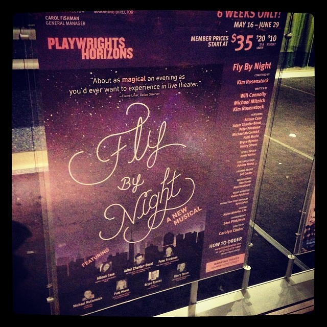 Such a beautiful work!!! Great music, story, band, set, and pure, lovely performances.  AND has 2 characters from South Dakota searching for happiness in NY!! #offbroadway #intimatemusicalsarethebest #southdakotarepresent #ilovediscoveringanewscore #playwrightshorizons #flybynightph