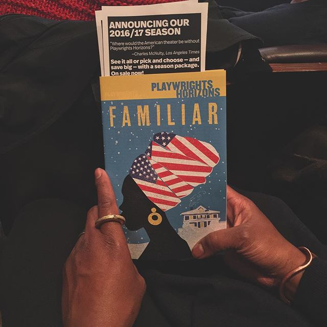 "Date night with the ""Love"" to see #familiar @phnyc\n\n#offbroadway #theater #playwrightshorizons #danaigurira #FamiliarPH #vsco #vscocam #vsconyc"