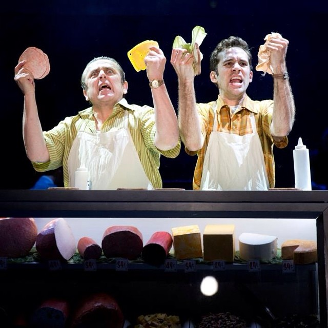 Lunchtime at Crabble's!  Grab a snadwich with @adamchanlerberat and Michael McCormick -- #flybynightph runs thru 6/29 only!