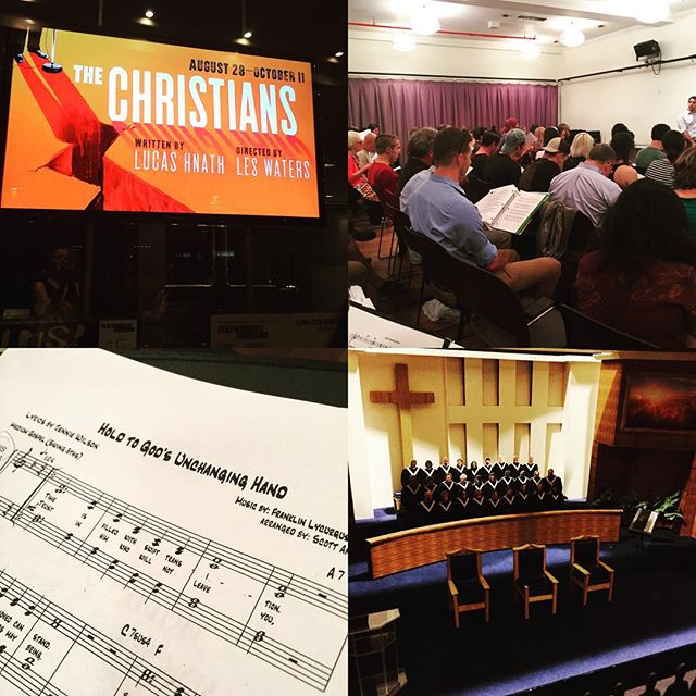 a bunch of us from @chameleonicnyc started choir rehearsals tonight for this new play at Playwrights Horizons. It's all-gospel! #TheChristiansPH #PHnyc