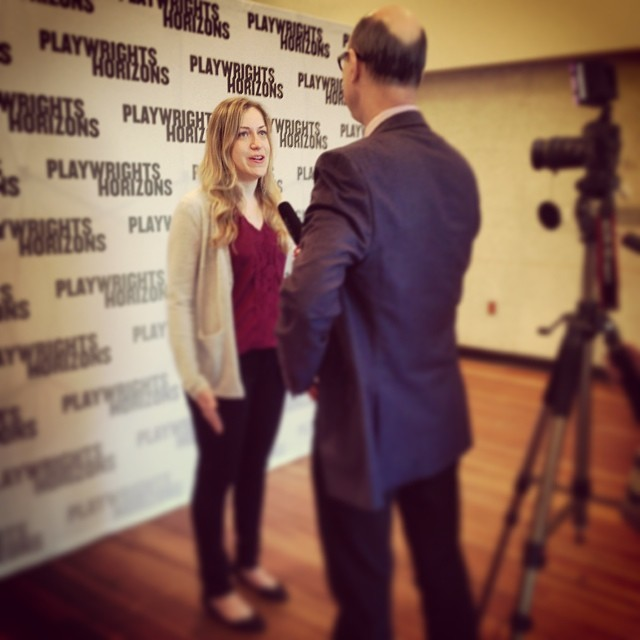 @broadwayworld's Richard Ridge interviewing #FlyByNightPH's @kdrosenstock at 1st rehearsal