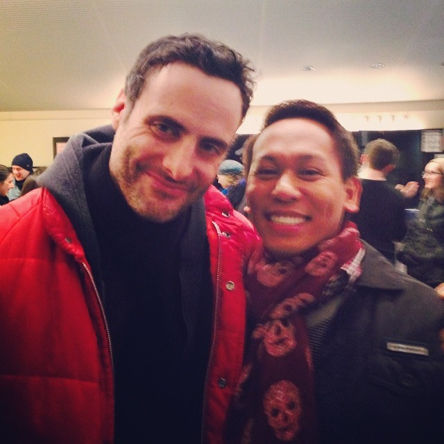 With #DominicFumusa after #StageKiss at the #PlaywrightsHorizons
