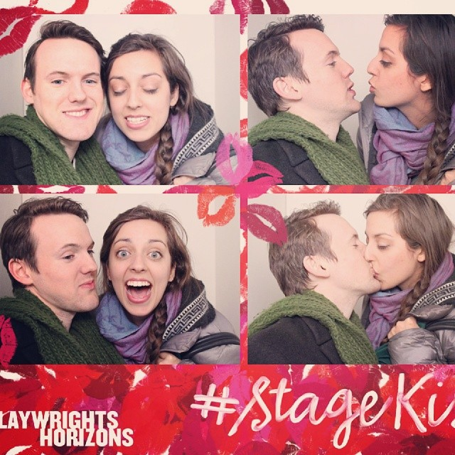 I don't think I could have planned more awkward pictures... #stagekiss #photobooth #nyc #love