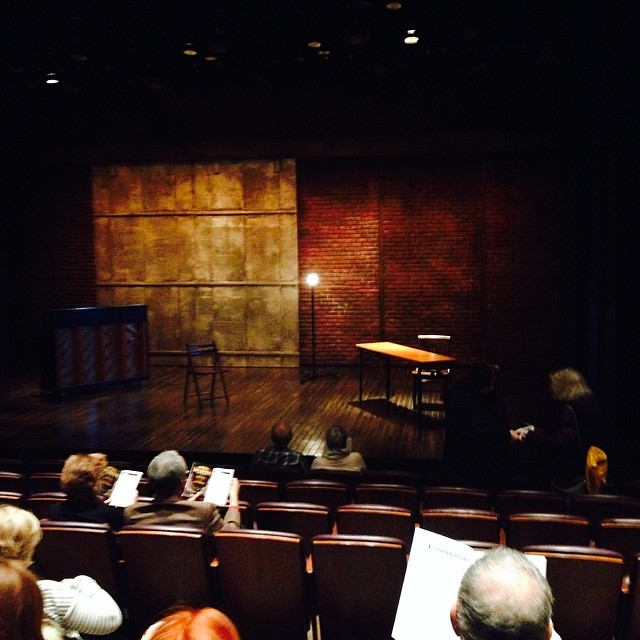 Waiting for the play to begin. #StageKiss brilliant!