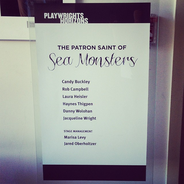 First two show day! #PatronSaintPlay