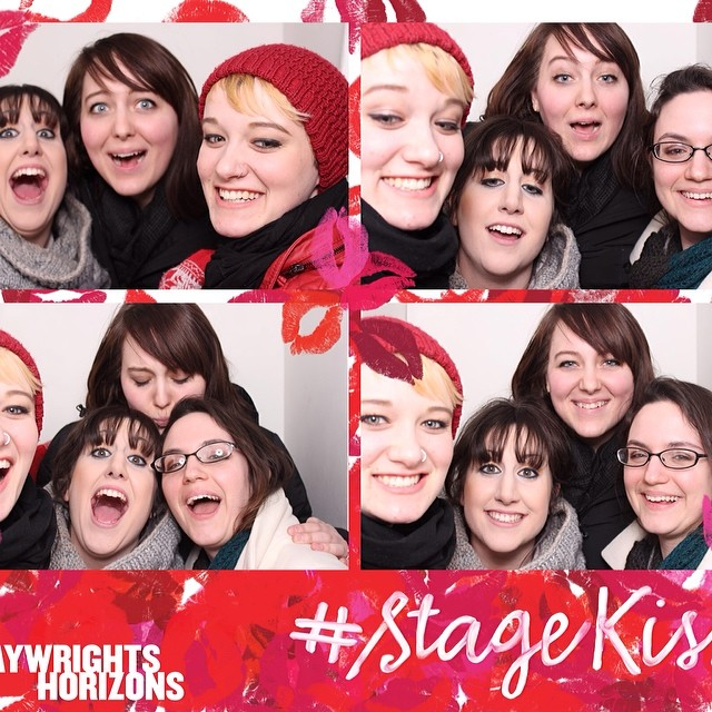 Preview of an incredible new off broadway play? Oh heck yes! #wimberlybacheloretteparty #stagekiss