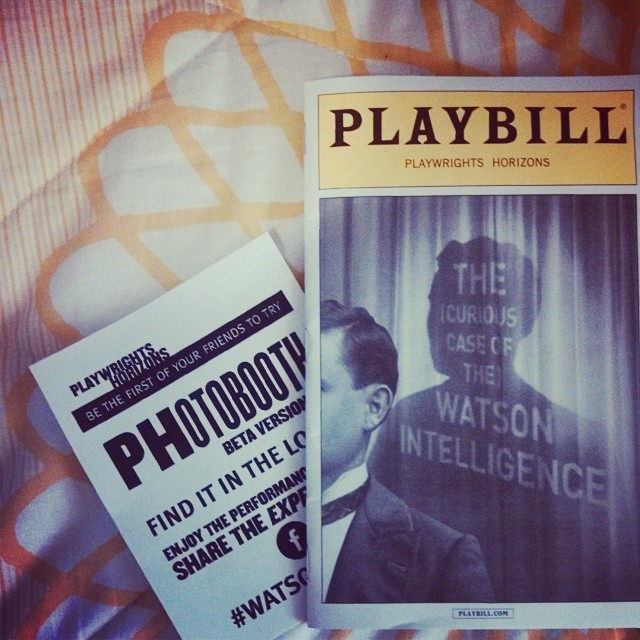 Quite the night with the @suzyeevans! Saw some theatre, enjoyed some shakes and as always great conversations. #watsonplay #nyc #fastfriends