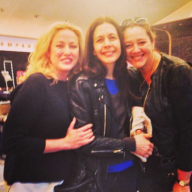 Me and Camryn Manheim surrounding Jessica Hecht w love after her wonderful show. #StageKiss #theatre #nyc #favoritewomen #sideways