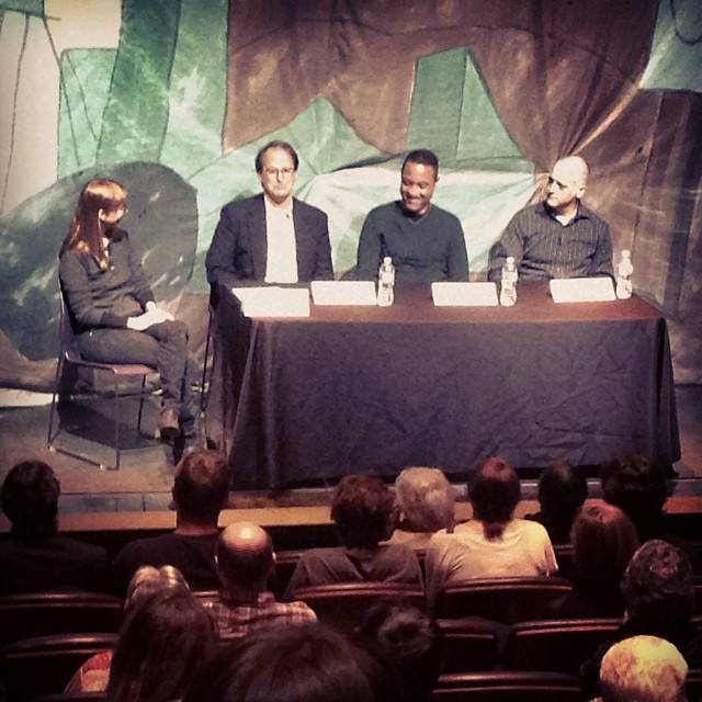 Right now:  panel discussion w/Anne Washburn, Jon Vitti, John McWhorter, Matt Zoller Seitz #mrburnsplay