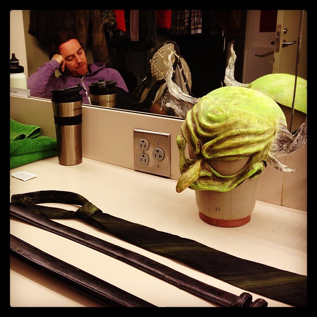 An actor prepares... @phnyc #mrburnsplay