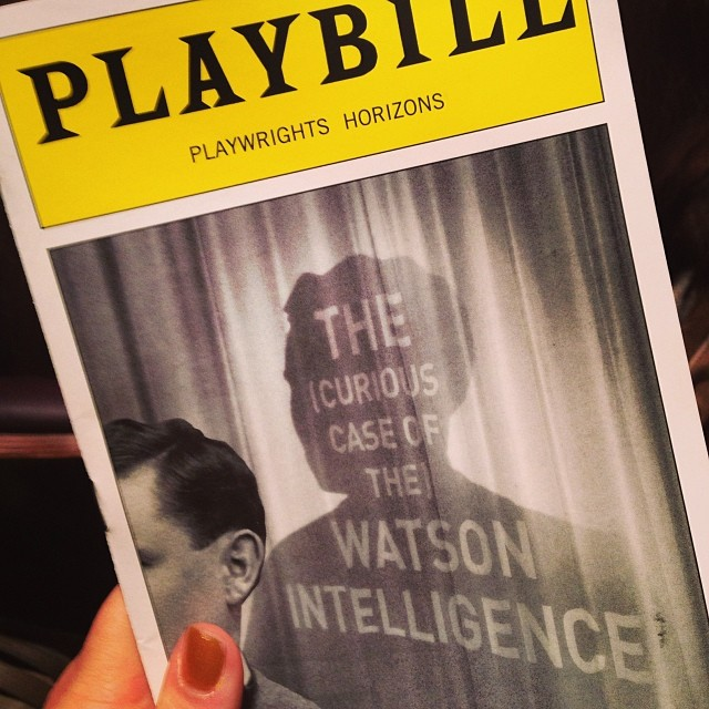 Seeing #WatsonPlay at @phnyc with @IreneKapustina. Yay Leigh Silverman! #offbroadway #broadway #theatre #newplay #elementary use at #Watson