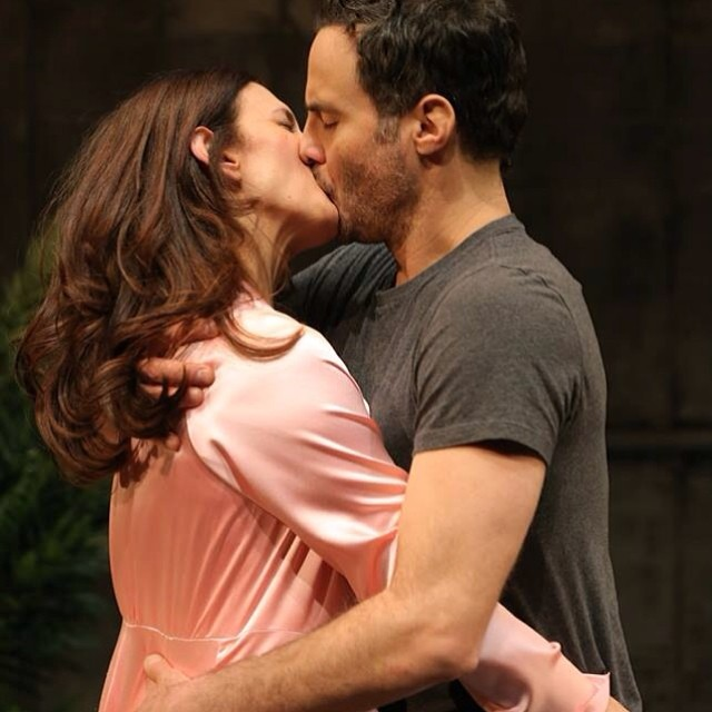 Jessica Hecht and Dominic Fumusa in a passionate lip lock in Sarah Ruhl's #StageKiss. See all the photos on our Facebook page!