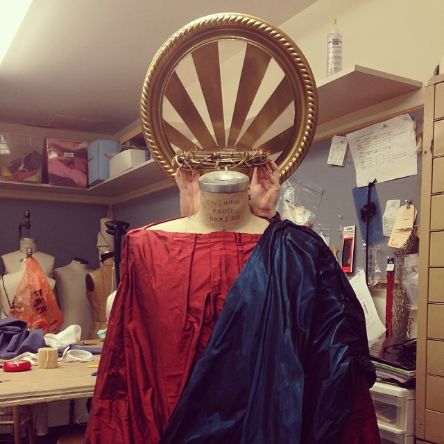 Getting ready for a religious experience\u2014final dress for #PatronSaintPlay tonight!